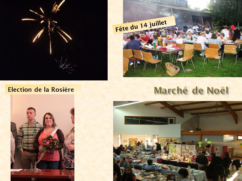 Fête du 14 juillet Marché de Noël Election de la Rosière