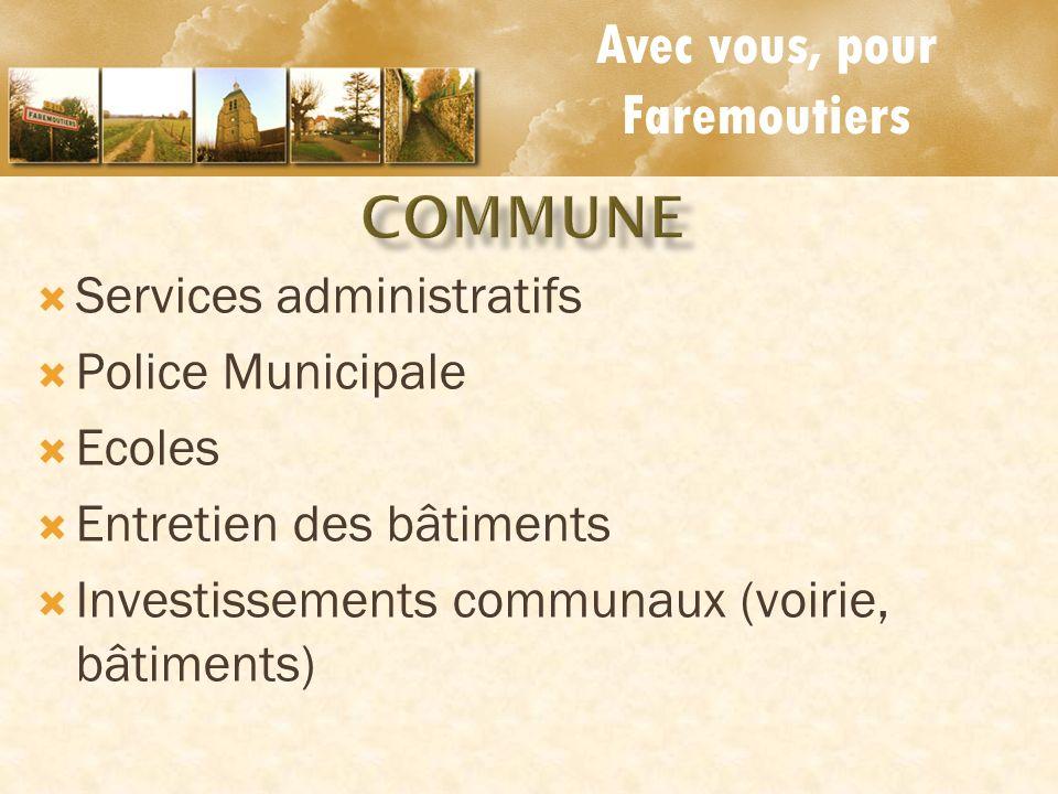 Avec vous, pour Faremoutiers COMMUNE Services administratifs