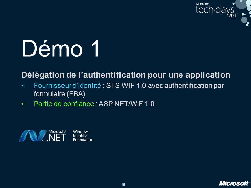 Démo 1 Délégation de l'authentification pour une application