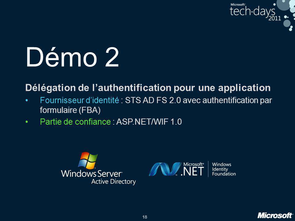 Démo 2 Délégation de l'authentification pour une application