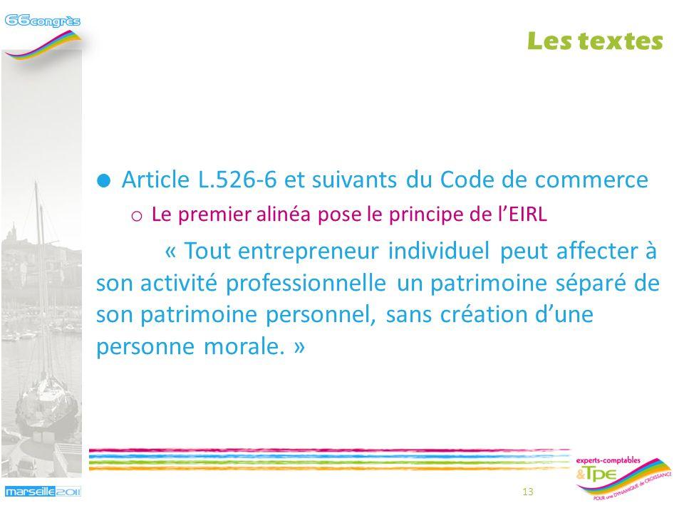 Article L.526-6 et suivants du Code de commerce
