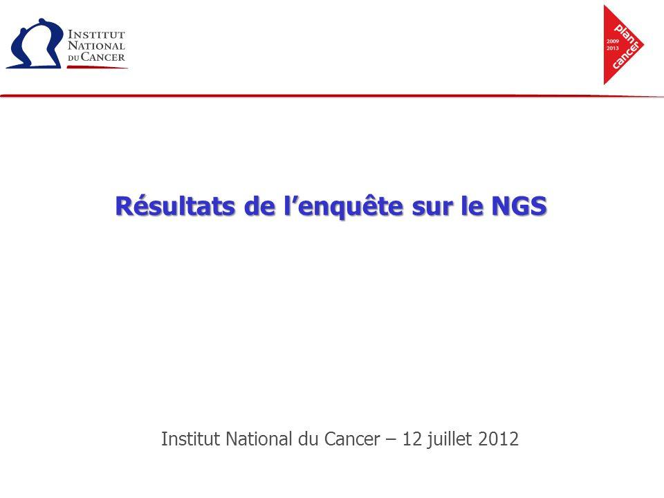 Résultats de l'enquête sur le NGS