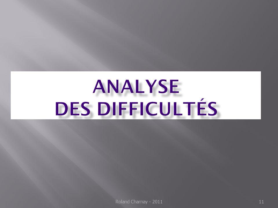 Analyse des difficultés