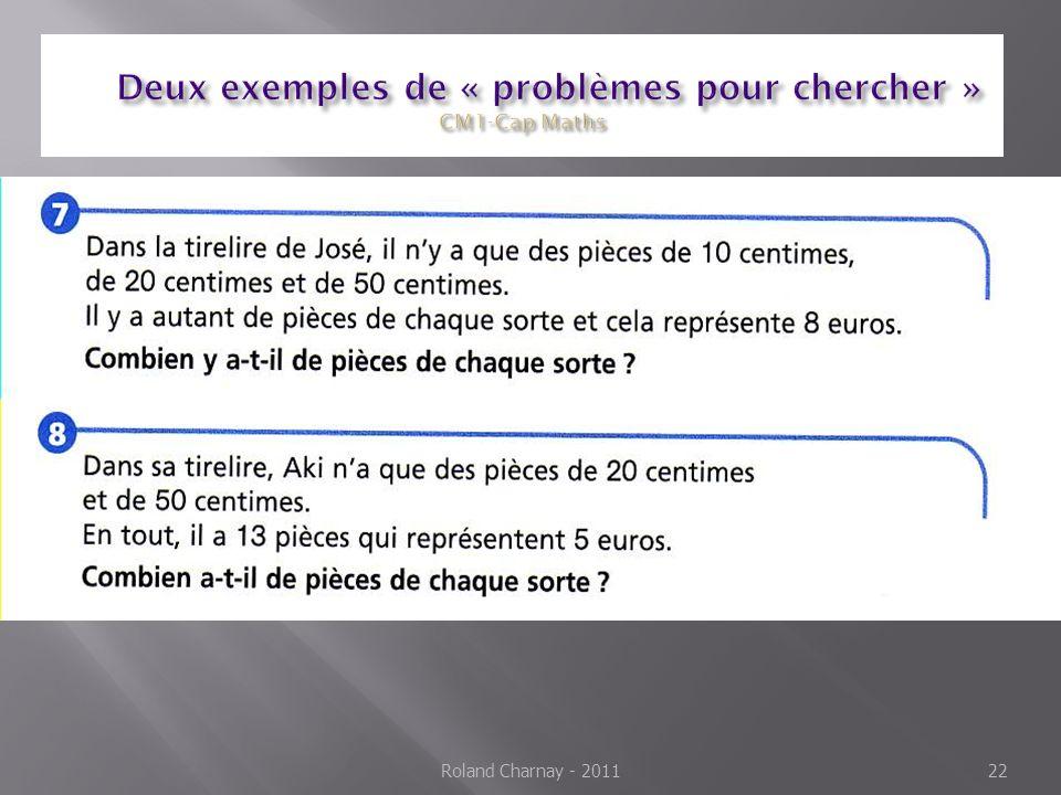 Deux exemples de « problèmes pour chercher » CM1-Cap Maths