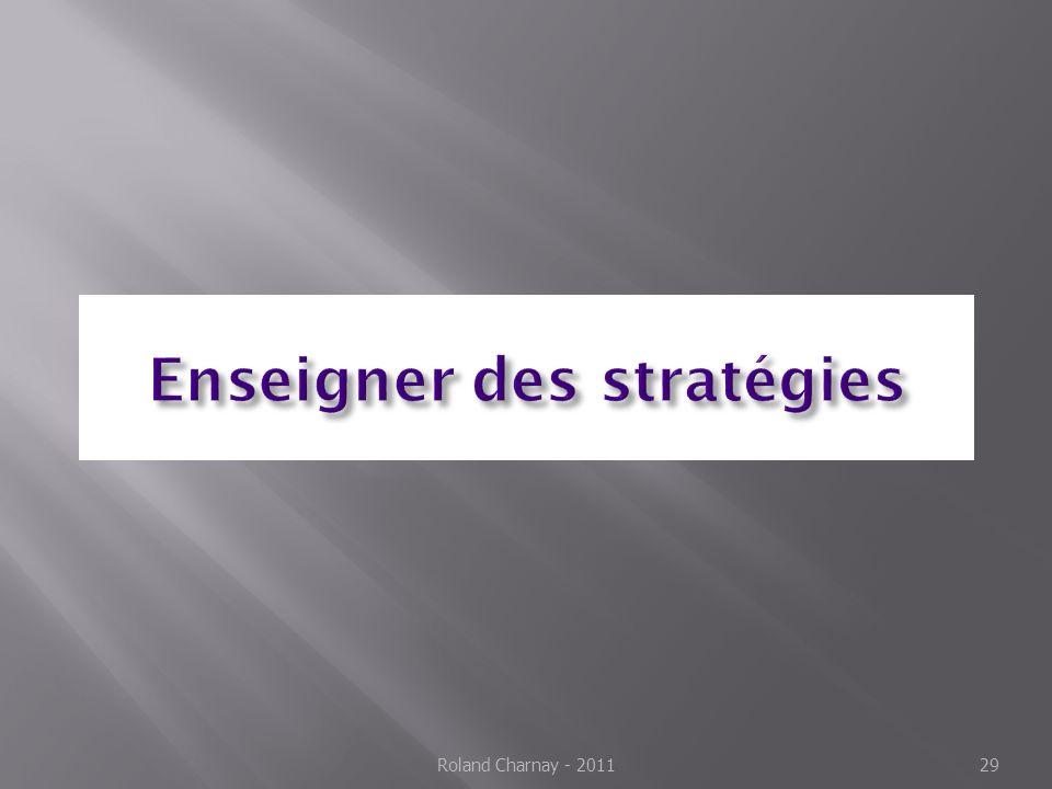 Enseigner des stratégies