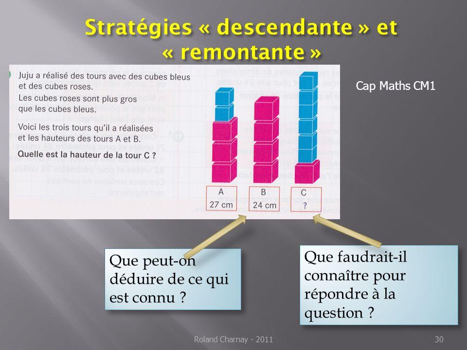 Stratégies « descendante » et « remontante »