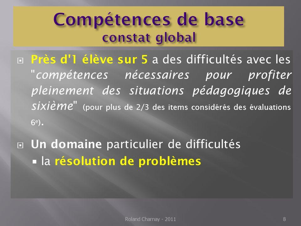 Compétences de base constat global