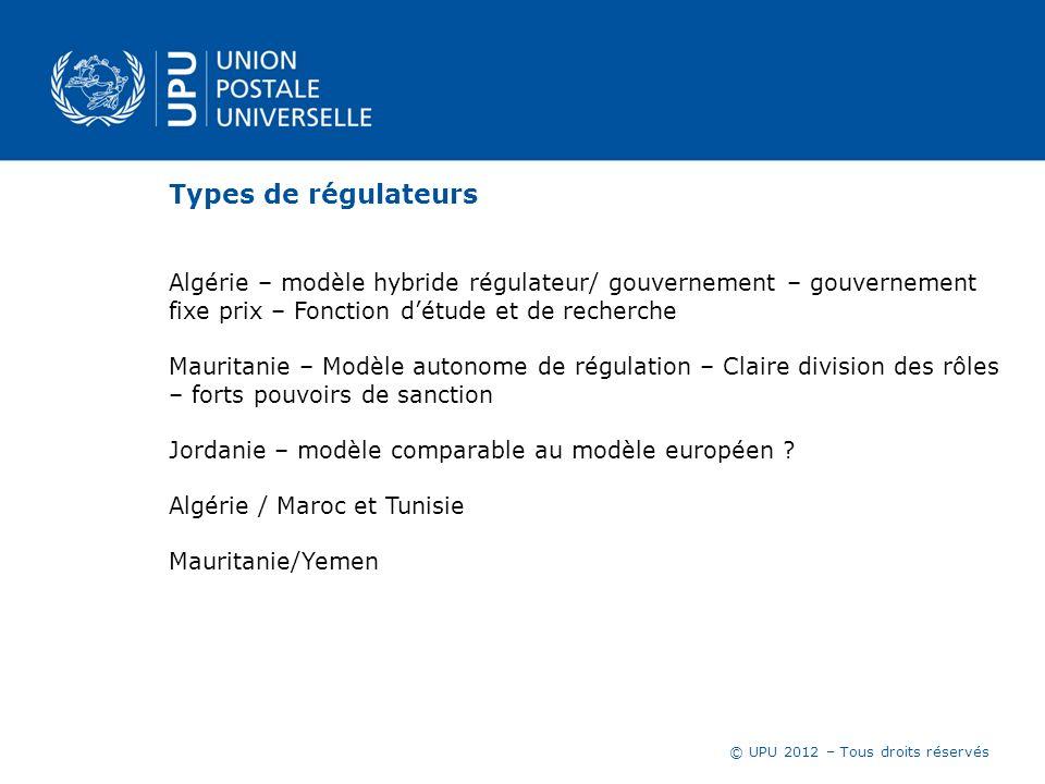 Types de régulateurs