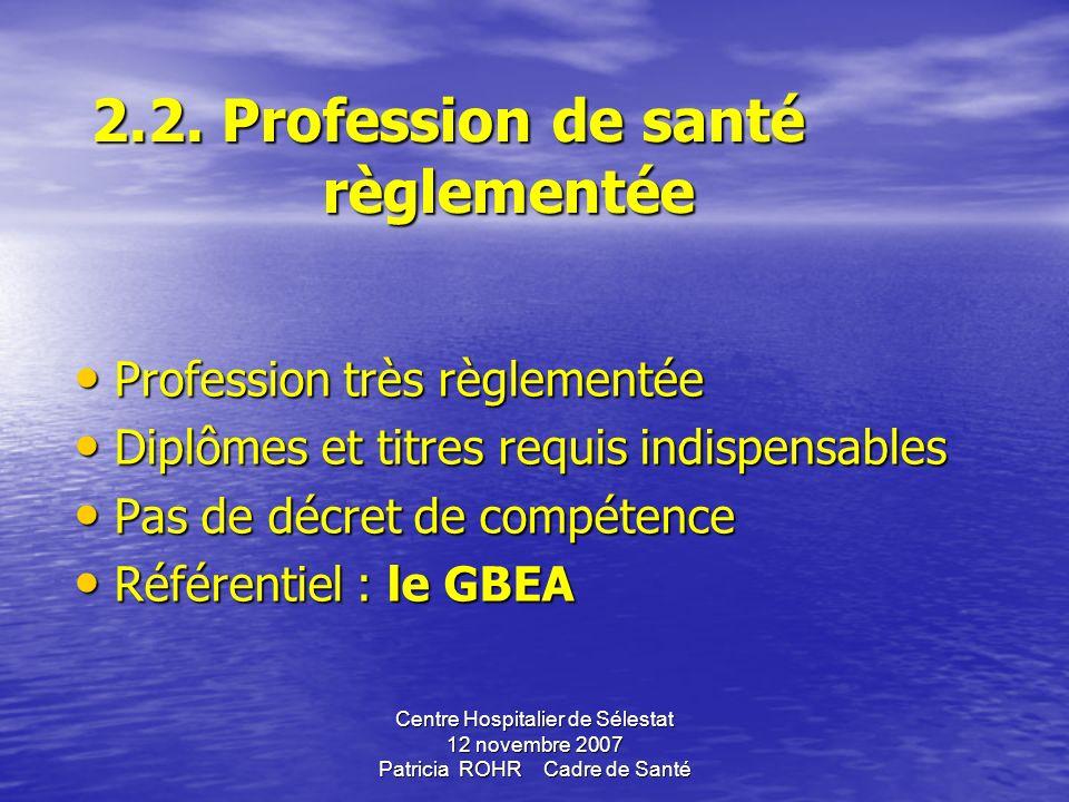 2.2. Profession de santé règlementée
