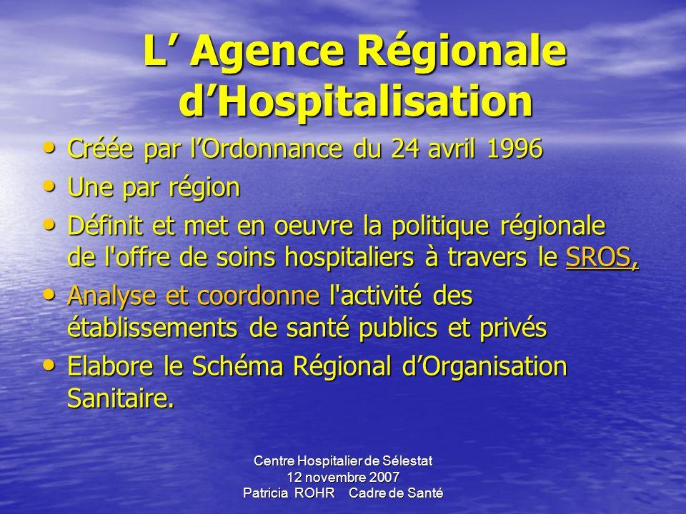 L' Agence Régionale d'Hospitalisation