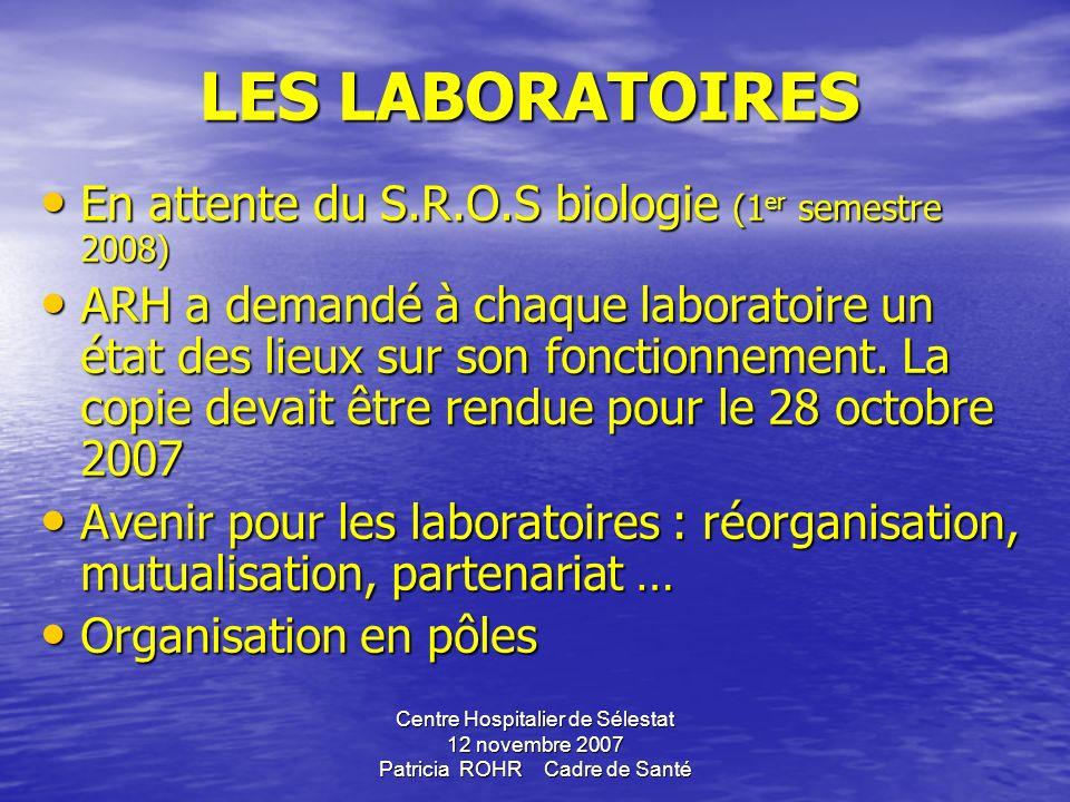 LES LABORATOIRES En attente du S.R.O.S biologie (1er semestre 2008)