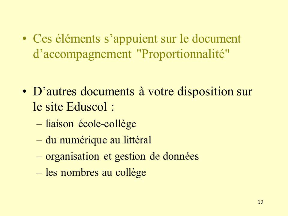 D'autres documents à votre disposition sur le site Eduscol :