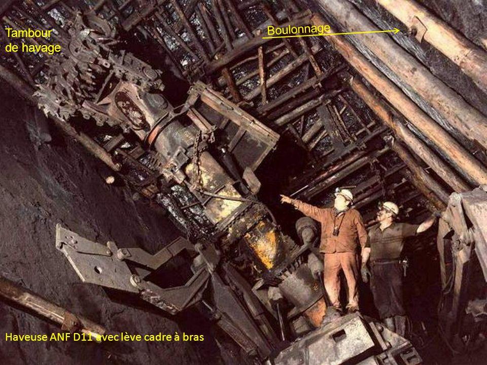 Boulonnage Tambour de havage Haveuse ANF D11 avec lève cadre à bras