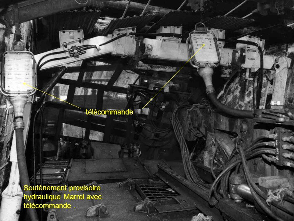 télécommande Soutènement provisoire hydraulique Marrel avec télécommande .