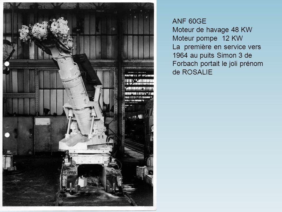 ANF 60GE Moteur de havage 48 KW. Moteur pompe 12 KW.