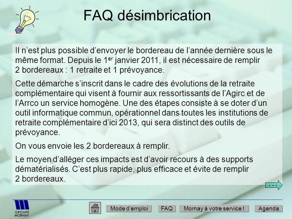 FAQ désimbrication