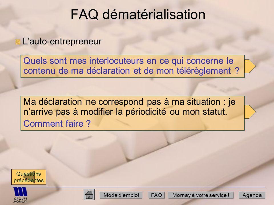 FAQ dématérialisation