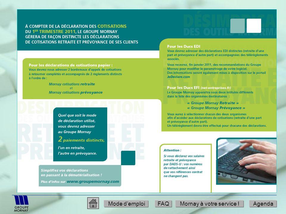 Mode d'emploi FAQ Mornay à votre service ! Agenda