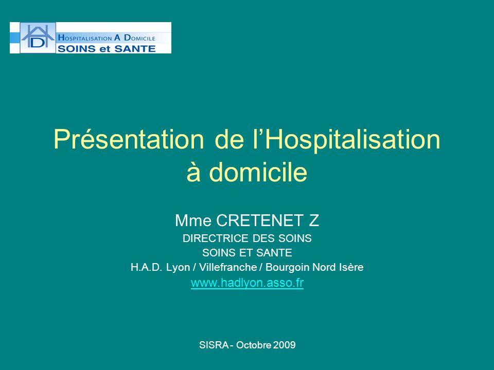Présentation de l'Hospitalisation à domicile