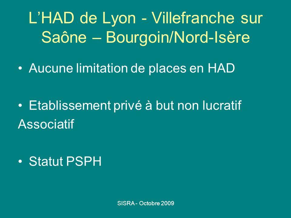 L'HAD de Lyon - Villefranche sur Saône – Bourgoin/Nord-Isère