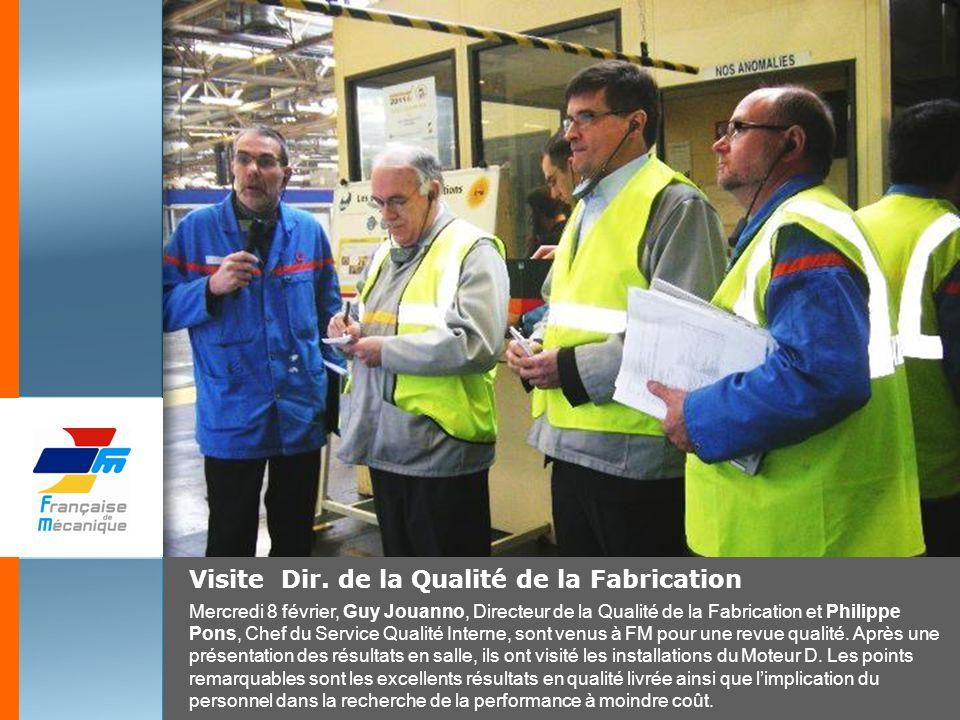 Visite Dir. de la Qualité de la Fabrication