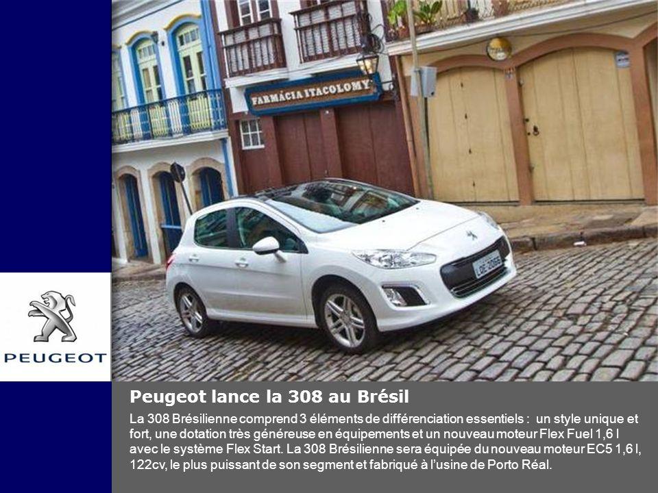 Peugeot lance la 308 au Brésil
