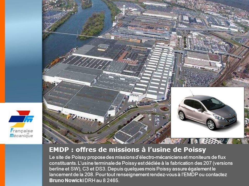 EMDP : offres de missions à l'usine de Poissy