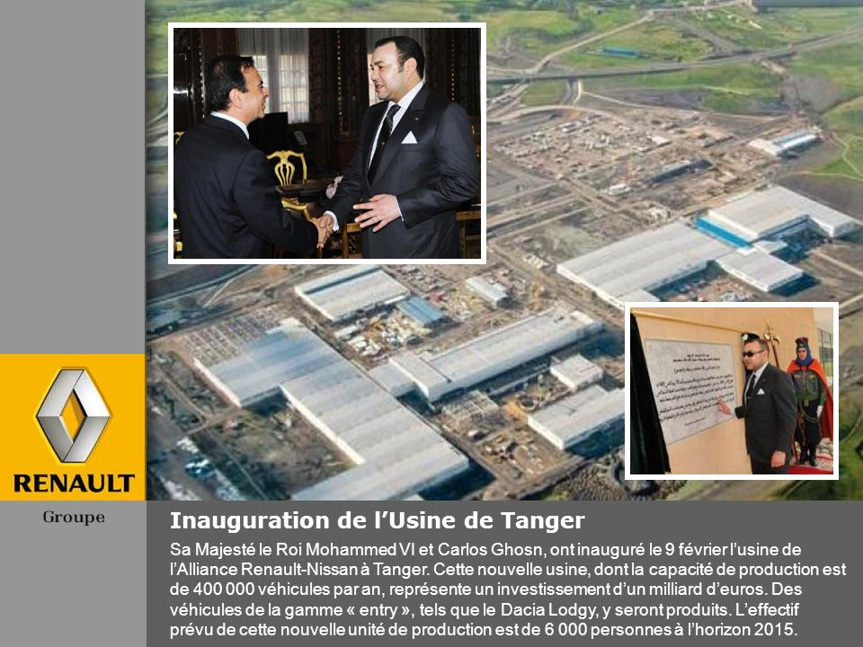 Inauguration de l'Usine de Tanger