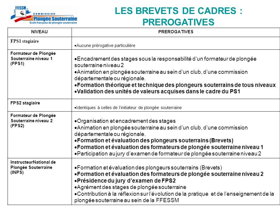 LES BREVETS DE CADRES : PREROGATIVES