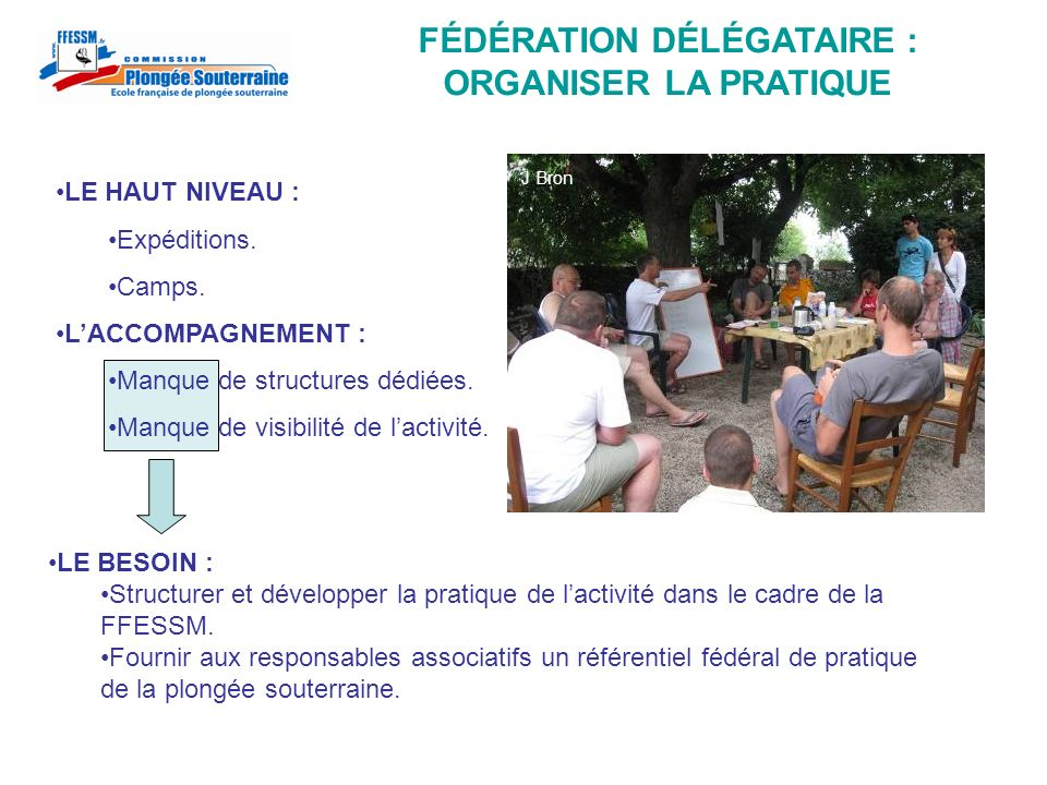 FÉDÉRATION DÉLÉGATAIRE : ORGANISER LA PRATIQUE