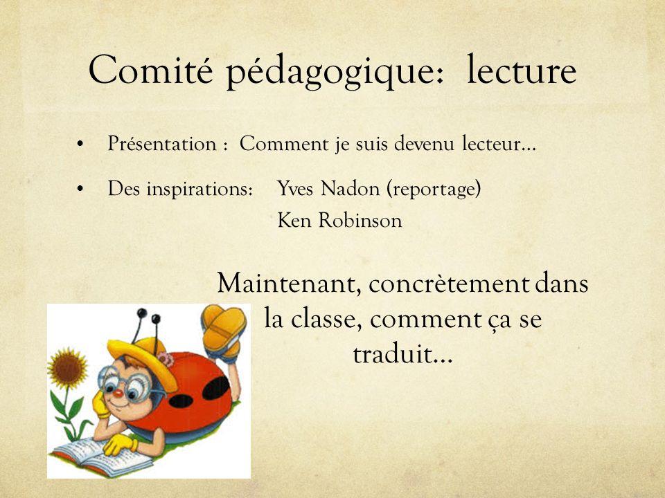 Comité pédagogique: lecture