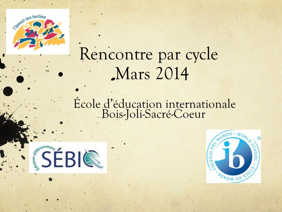 Rencontre par cycle Mars 2014