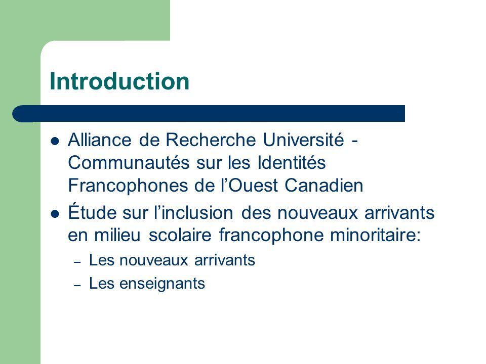 Introduction Alliance de Recherche Université - Communautés sur les Identités Francophones de l'Ouest Canadien.