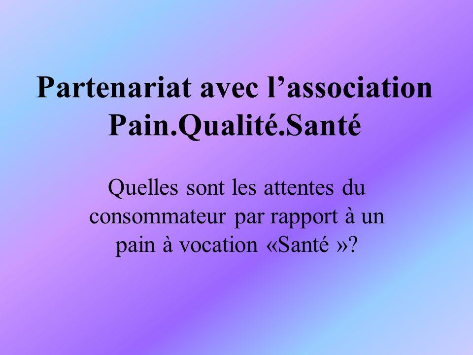 Partenariat avec l'association Pain.Qualité.Santé