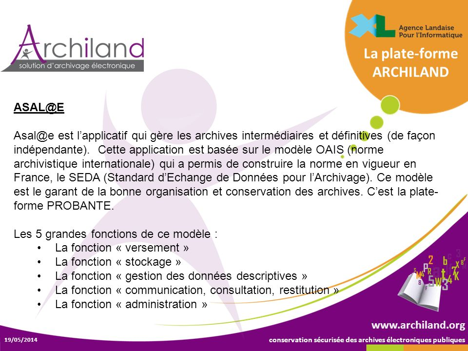 La plate-forme ARCHILAND