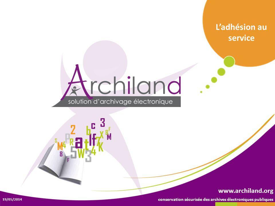 L'adhésion au service www.archiland.org