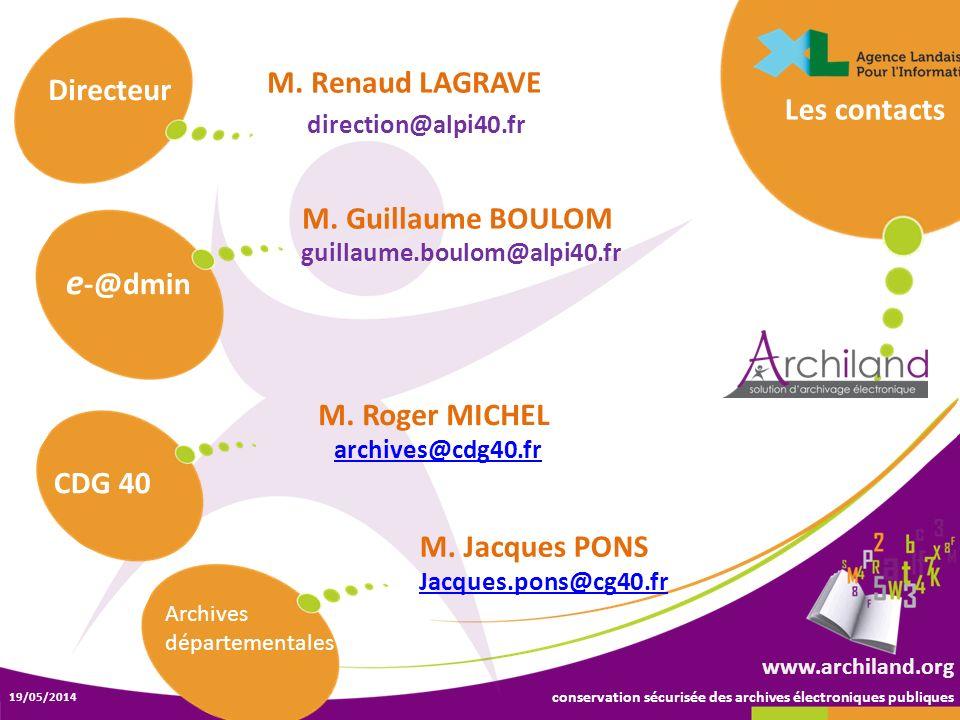 e-@dmin M. Renaud LAGRAVE Directeur Les contacts M. Guillaume BOULOM