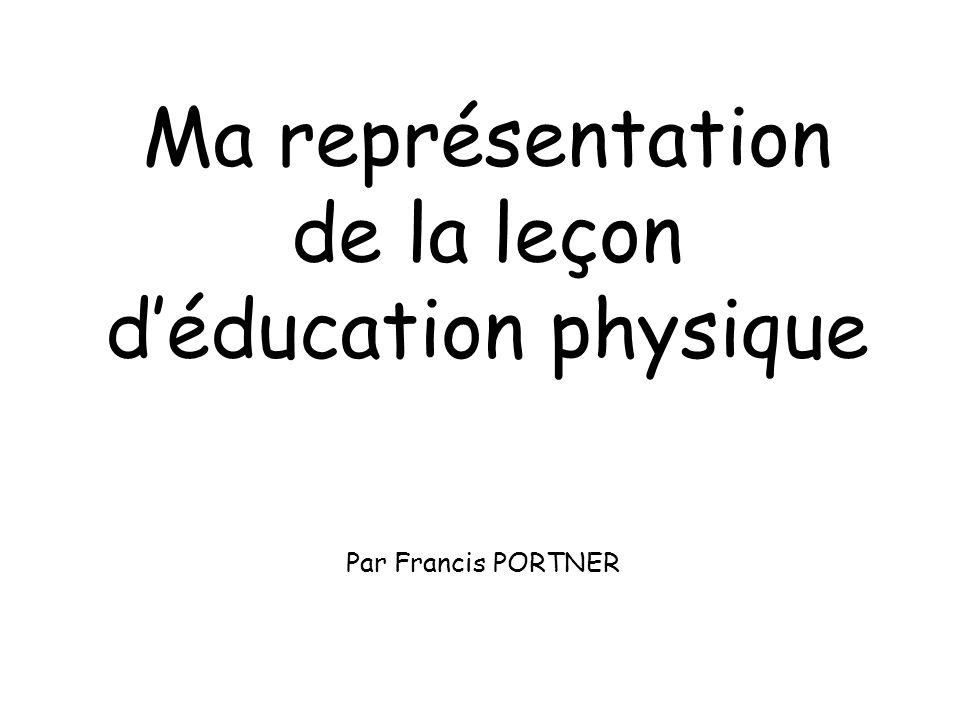 Ma représentation de la leçon d'éducation physique