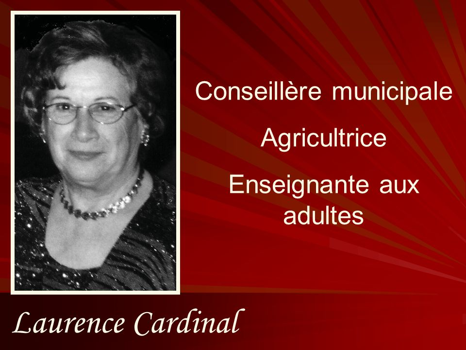 Laurence Cardinal Conseillère municipale Agricultrice