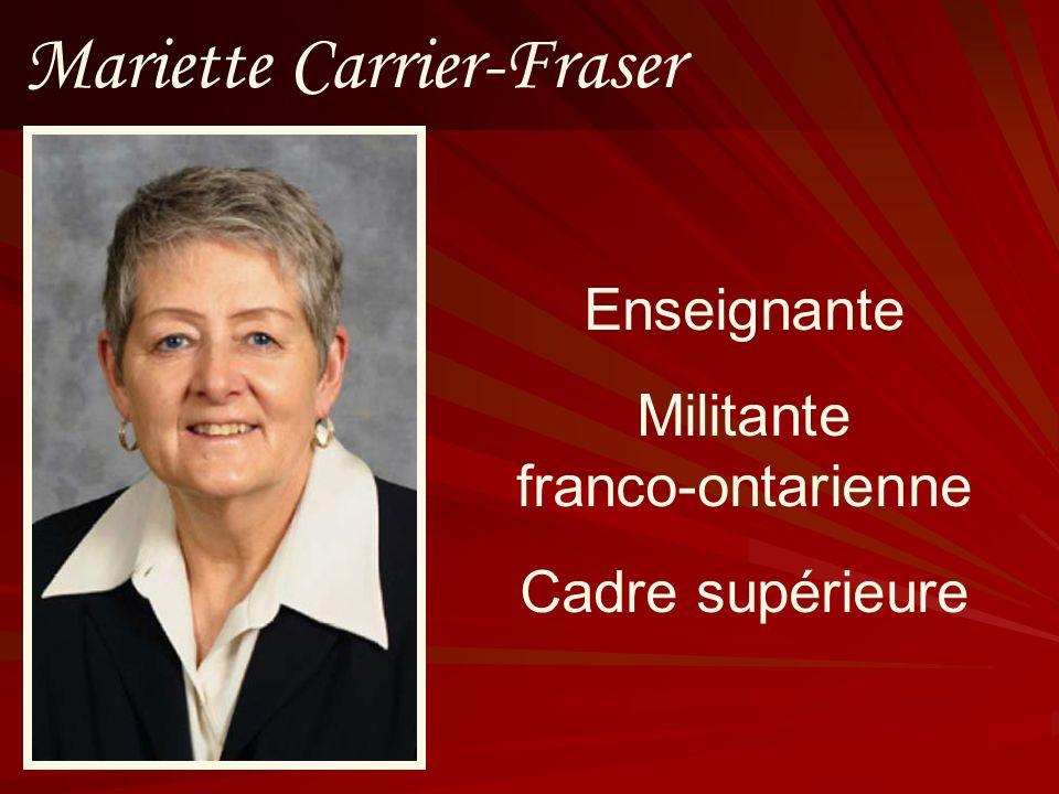 Mariette Carrier-Fraser