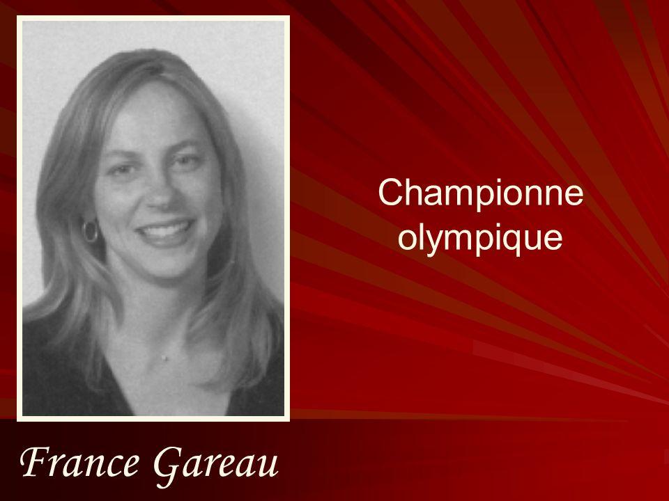 Championne olympique France Gareau
