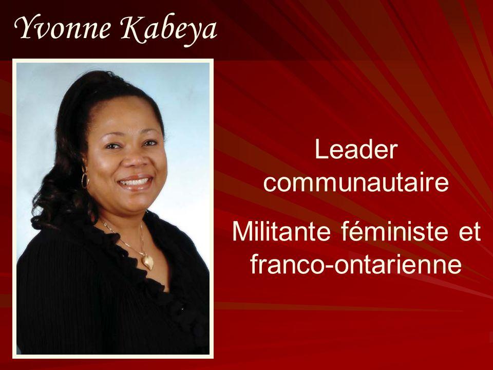 Militante féministe et franco-ontarienne