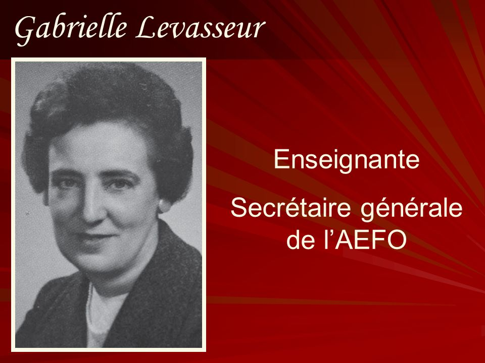 Secrétaire générale de l'AEFO
