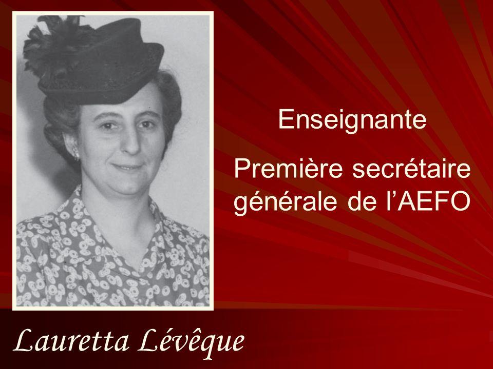 Première secrétaire générale de l'AEFO