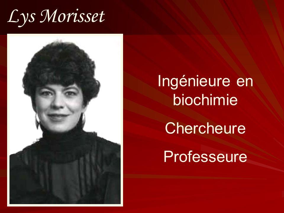 Ingénieure en biochimie