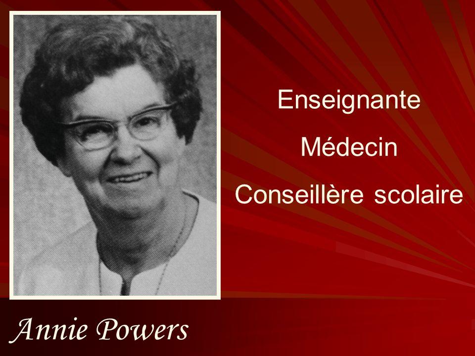 Enseignante Médecin Conseillère scolaire Annie Powers