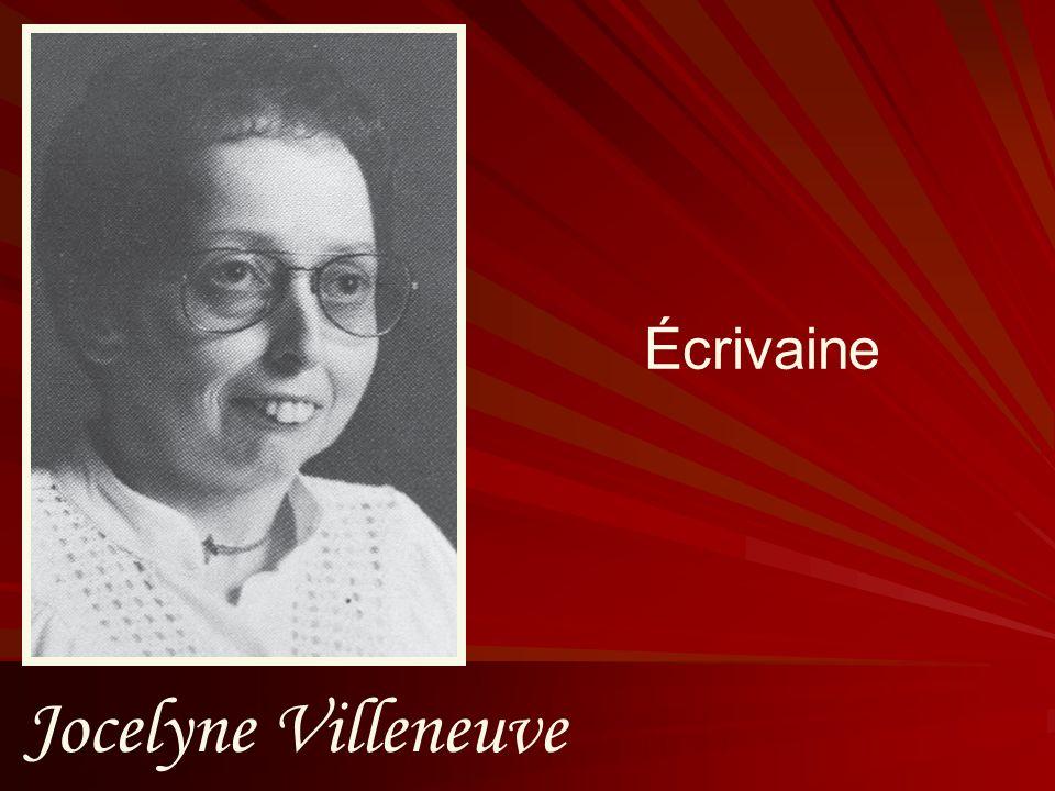 Écrivaine Jocelyne Villeneuve