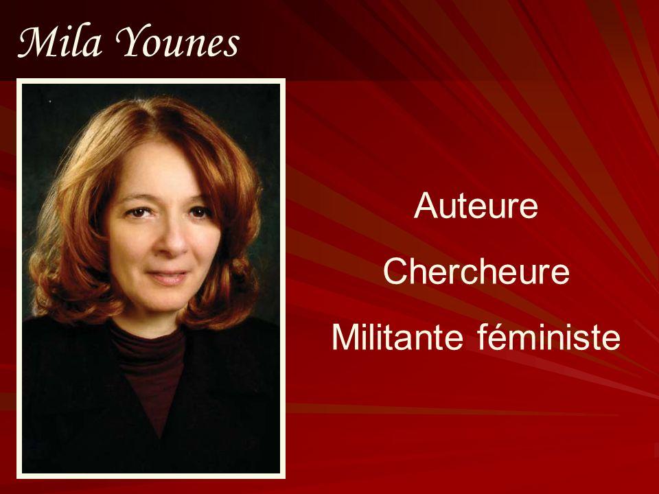 Mila Younes Auteure Chercheure Militante féministe