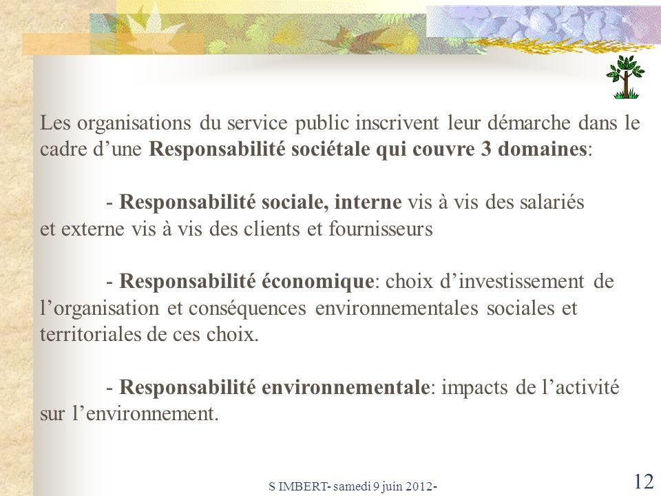 - Responsabilité sociale, interne vis à vis des salariés