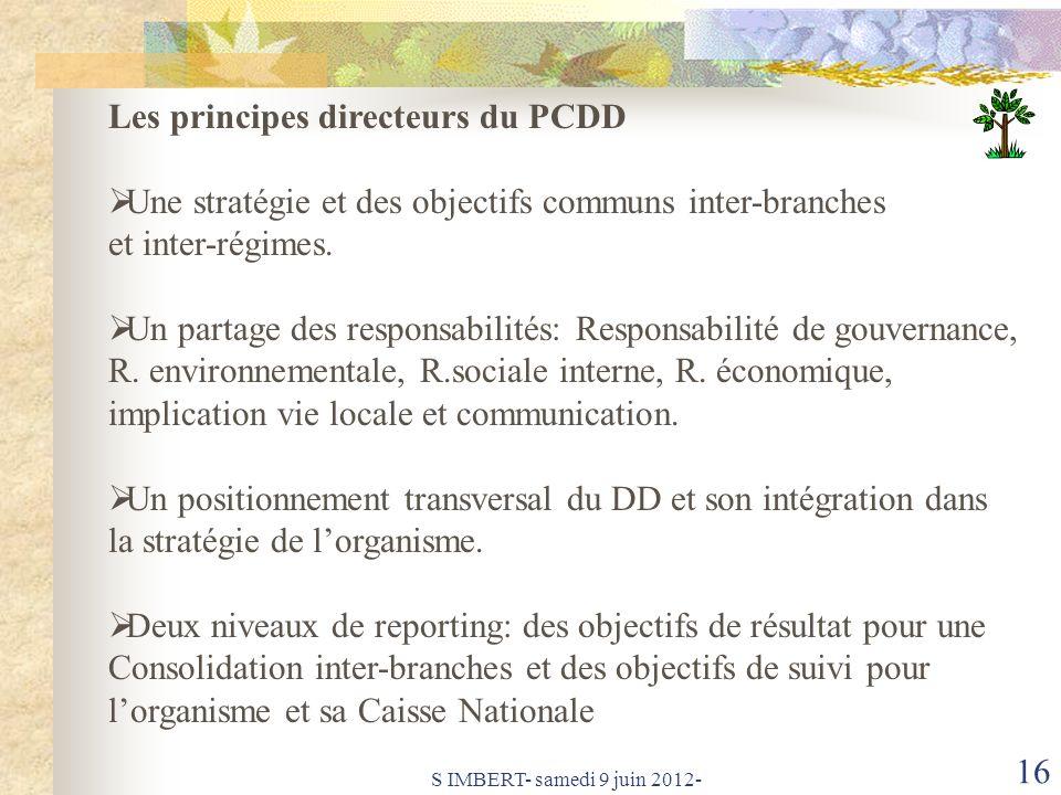 Les principes directeurs du PCDD